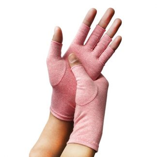 Arthritis compression gloves pink