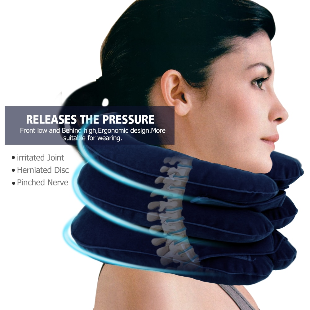 Neck Traction With Inflatable Air For Neck Shoulder Pain